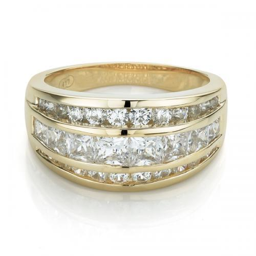 Stunning Channel Set Band in Yellow Gold