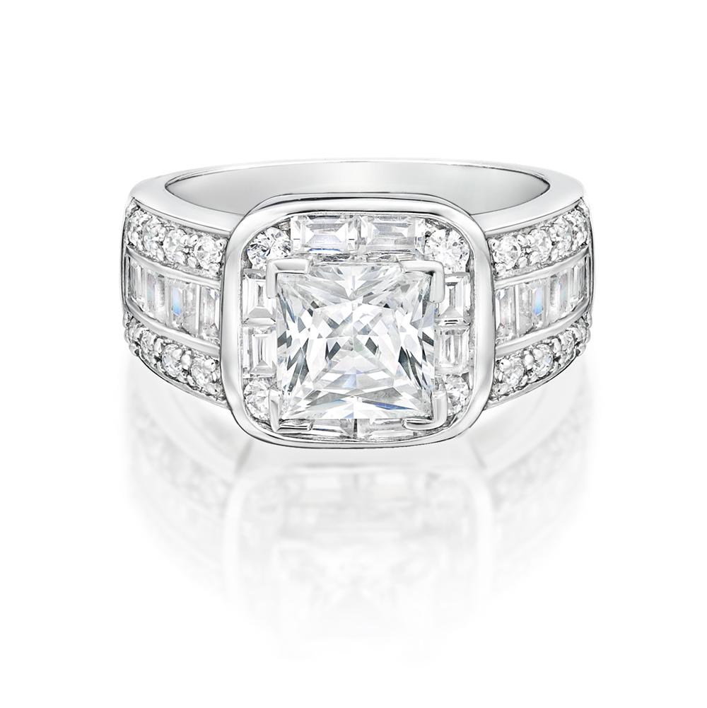 Art Deco Inspired Dress Ring White Gold