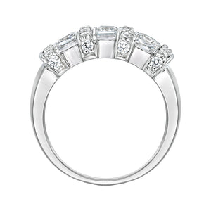 Channel Set Princess Cut Ring in White Gold