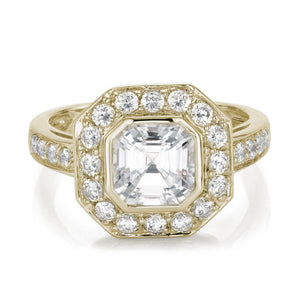 Asscher Cut Dress Ring in Yellow Gold