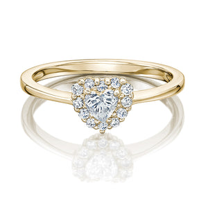 Heart Dress Ring in Yellow Gold