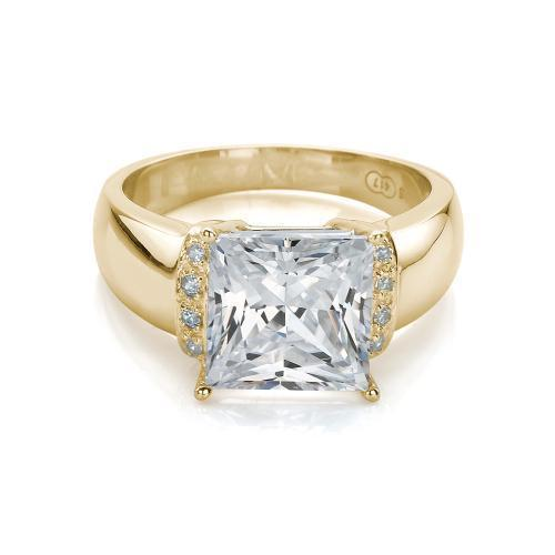 Stunning Princess Cut Ring in Yellow Gold
