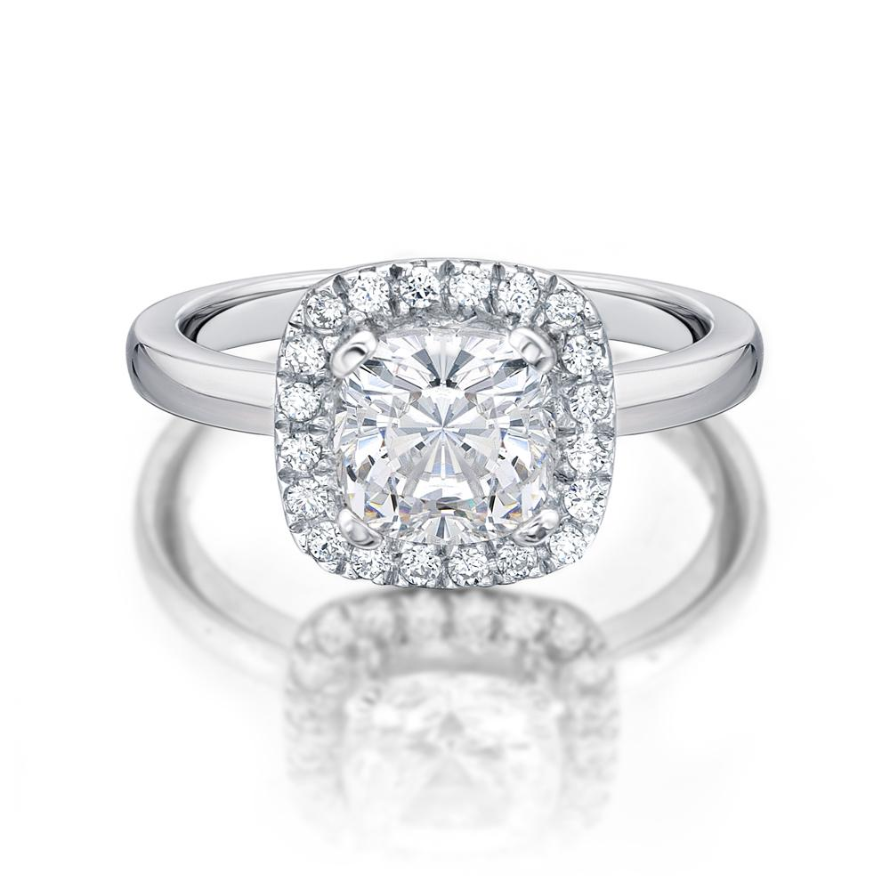 diamond gold packham total cushion context jenny ring weight white halo cut rings in engagement p double carat