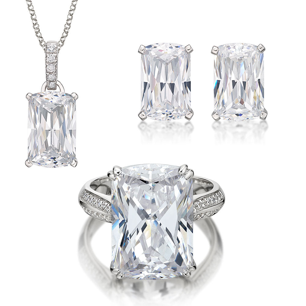 Aurora Gift Set in White Gold