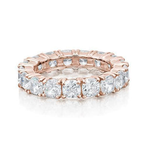Cushion Cut All-Rounder Band in Rose Gold