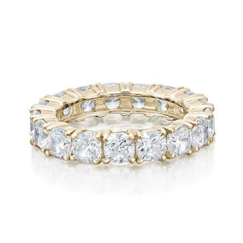 Cushion Cut All-Rounder Band in Yellow Gold