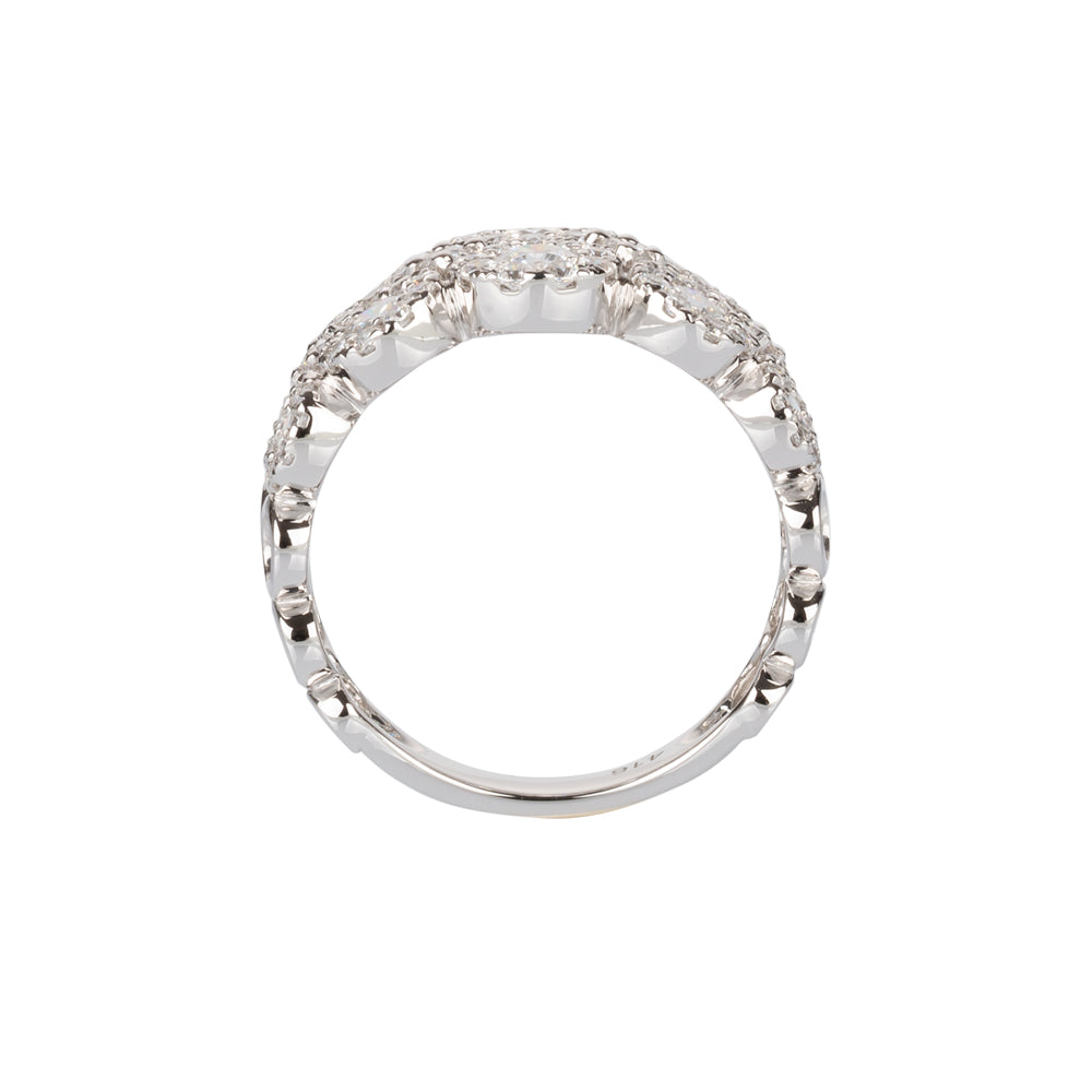 Celeste Double Row Round Brilliant Ring in 10ct White Gold