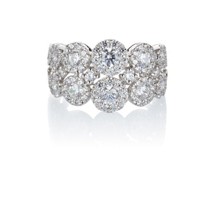 Celeste Double Row Round Brilliant Ring in 14ct White Gold