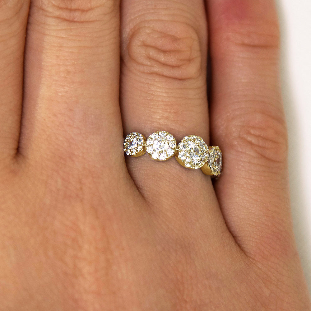 Celeste Single Row Round Brilliant Ring in 10ct Yellow Gold