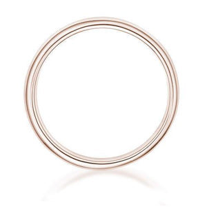 Half Round Wedding Band in Rose Gold