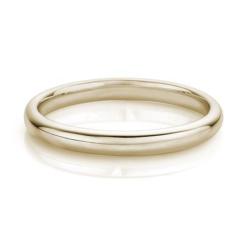 Half Round Wedding Band in Yellow Gold