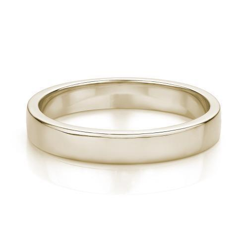 Flat Wedding Band in Yellow Gold