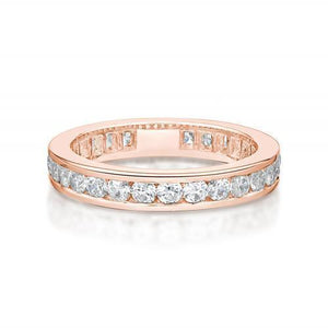Round Brilliant Channel Set All-Rounder Band in Rose Gold