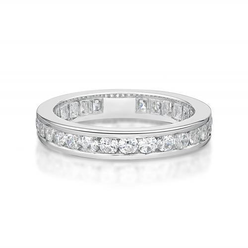 Round Brilliant Channel Set All-Rounder Band in White Gold