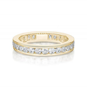 Round Brilliant Channel Set All-Rounder Band in Yellow Gold