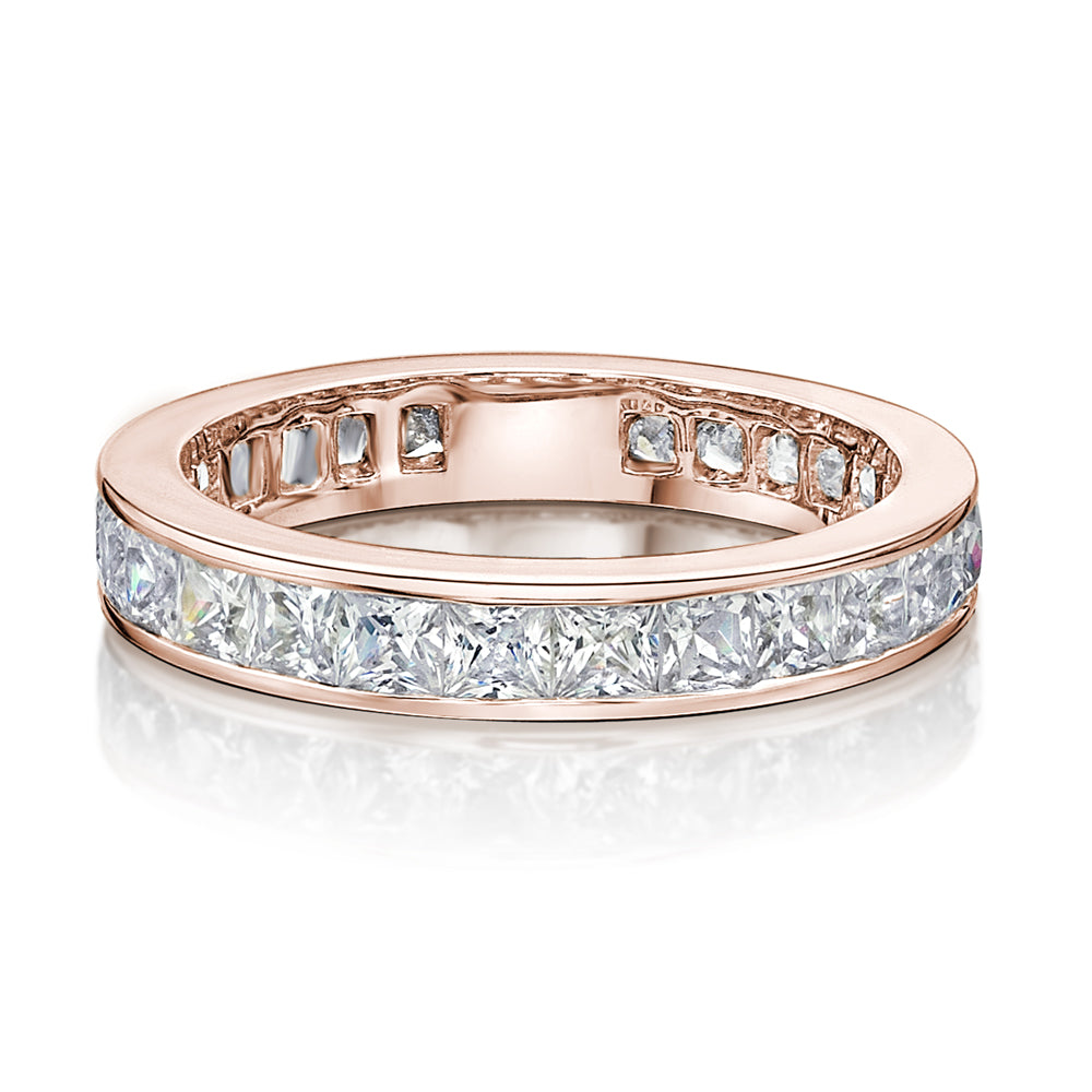 Channel Set All-Rounder Ring in Rose Gold