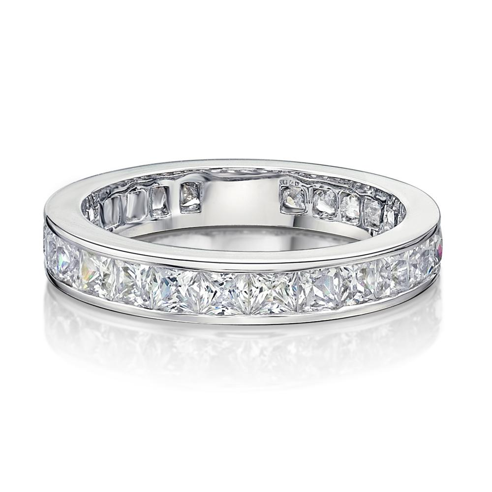 Channel Set All-Rounder Ring in White Gold