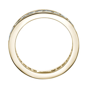Channel Set All-Rounder Ring in Yellow Gold