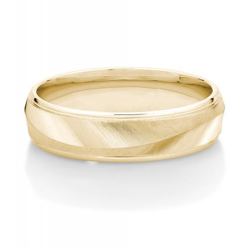 Mens Laser Cut Band in Yellow Gold