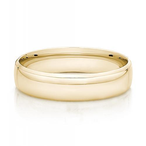Mens Bevel Edge Band in Yellow Gold