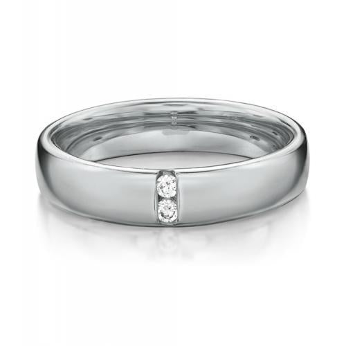 Together Forever Promise Ring - Wide in White Gold
