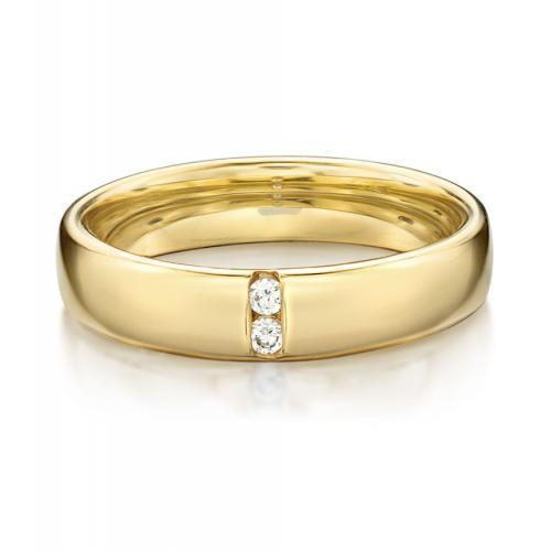 Together Forever Promise Ring - Wide in Yellow Gold