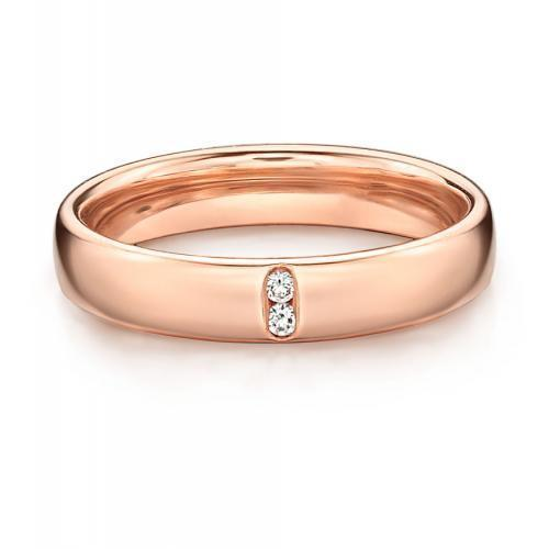 Together Forever Promise Ring - Narrow in Rose Gold