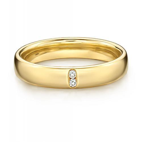 Together Forever Promise Ring - Narrow in Yellow Gold