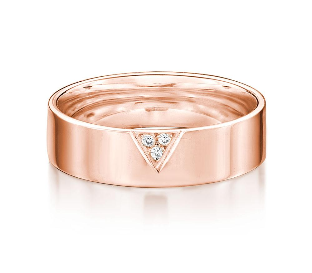 Aspire Promise Ring - Wide in Rose Gold