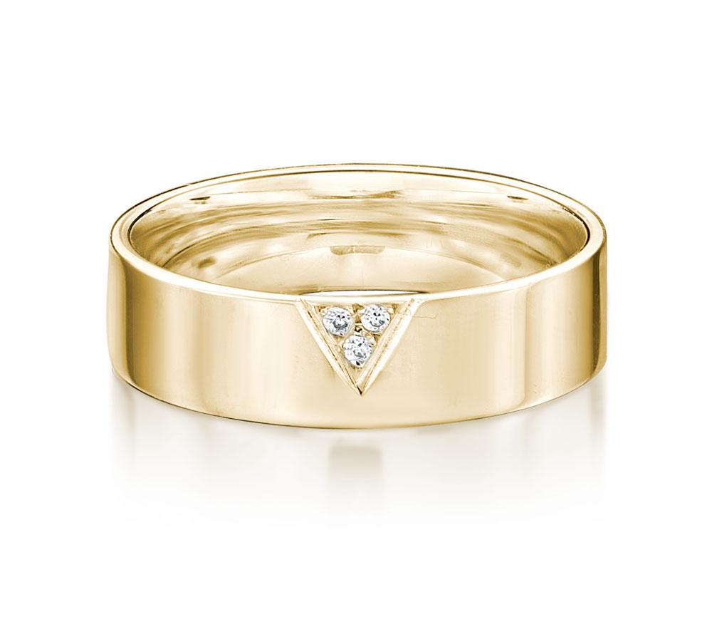 Aspire Promise Ring - Wide in Yellow Gold
