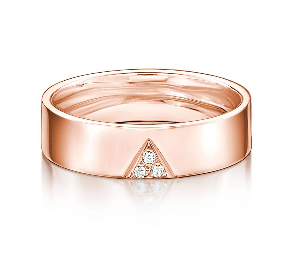 Aspire Promise Ring - Narrow in Rose Gold