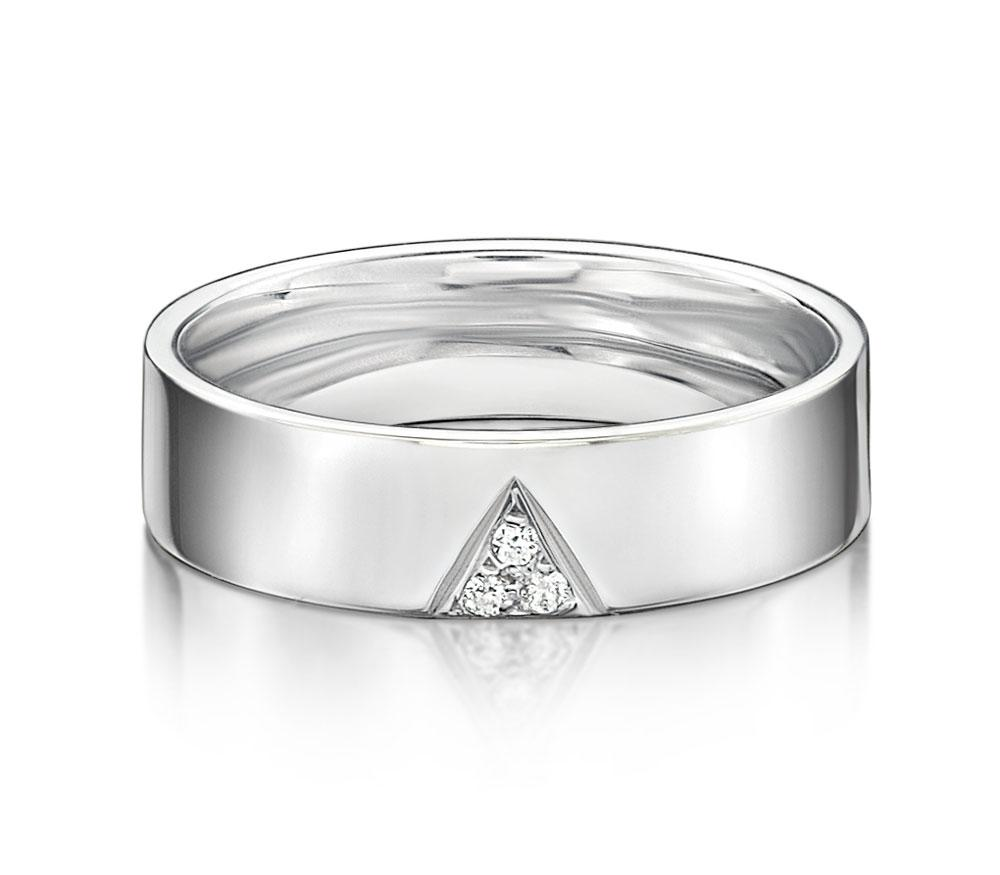 Aspire Promise Ring - Narrow in White Gold