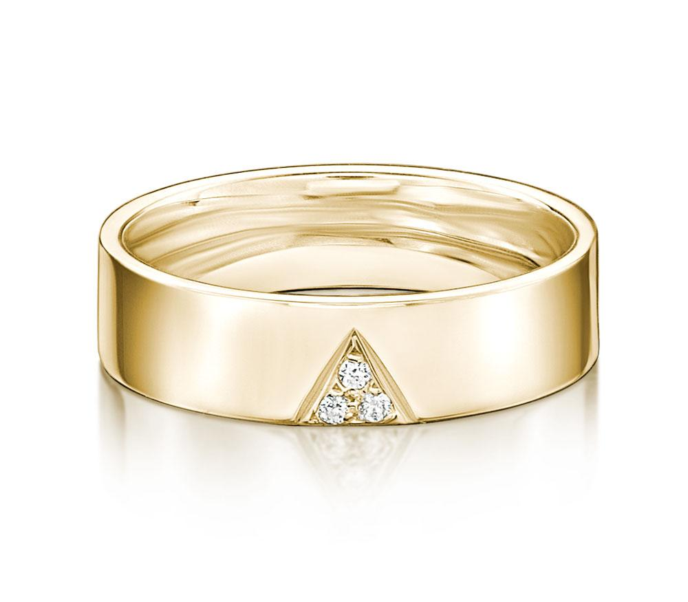 Aspire Promise Ring - Narrow in Yellow Gold