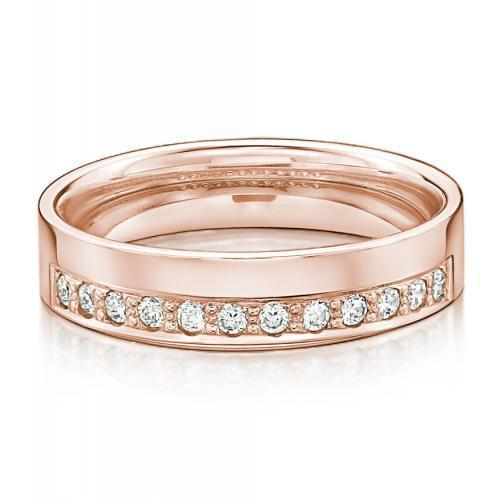 Eternal Promise Ring - Wide in Rose Gold