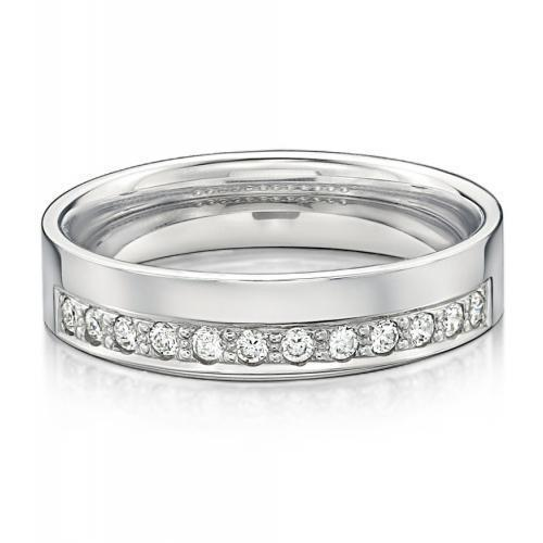 Eternal Promise Ring - Wide in White Gold
