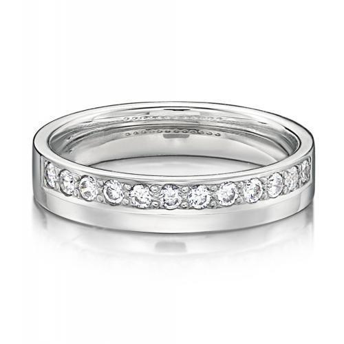 Eternal Promise Ring - Narrow in White Gold