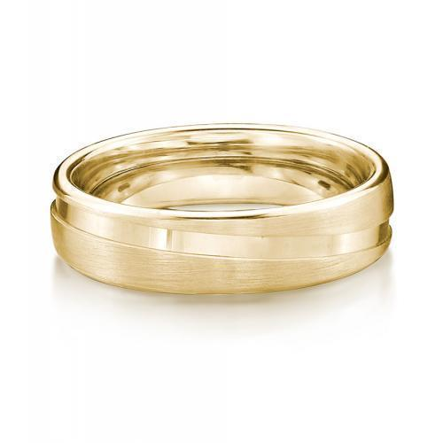 Endless Love Promise Ring - Wide in Yellow Gold