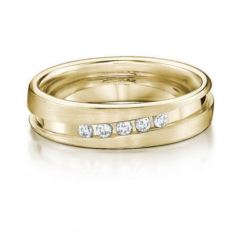 Endless Love Promise Ring - Narrow in Yellow Gold