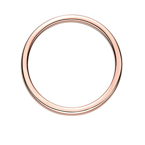 Plain Wedding Band in Rose Gold