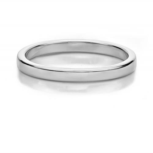 Plain Wedding Band in White Gold