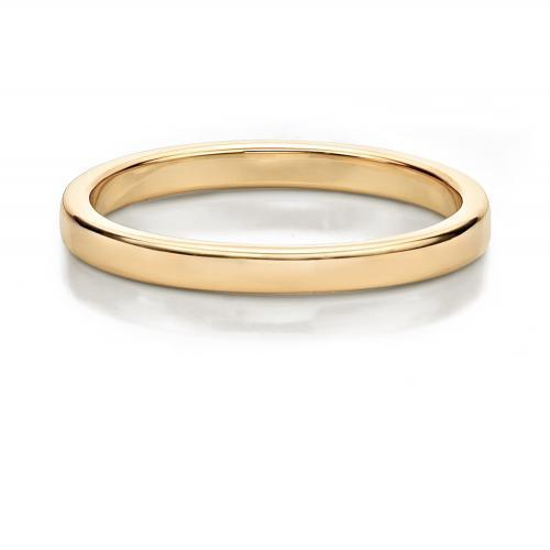 Plain Wedding Band in Yellow Gold