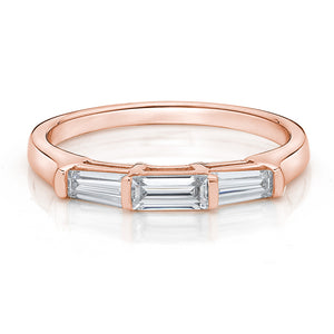 Baguette Cut Band in Rose Gold