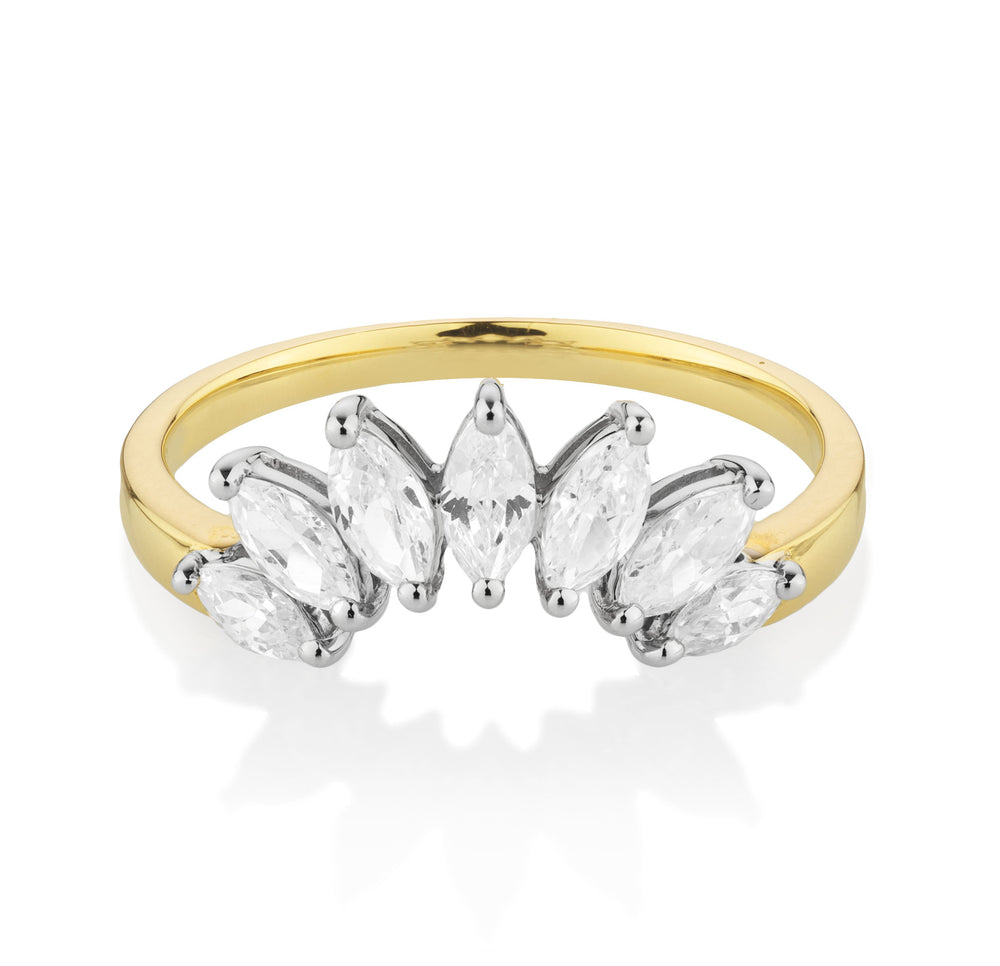 Marquise Enchanting Enhancer Yellow Gold with White Gold Setting