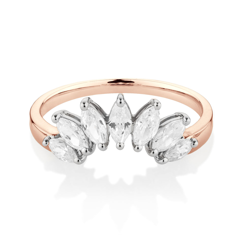 Marquise Enchanting Enhancer Rose Gold with White Gold Setting