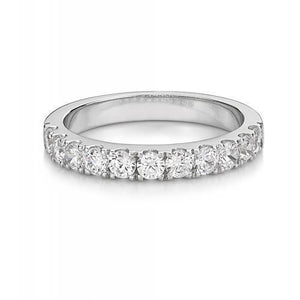 Princess and Round Brilliant Cut Claw Set Ring and Band Set in White Gold