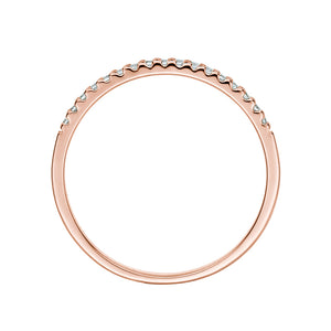 Round Brilliant Wedding Band in Rose Gold