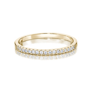 Round Brilliant Wedding Band in Yellow Gold