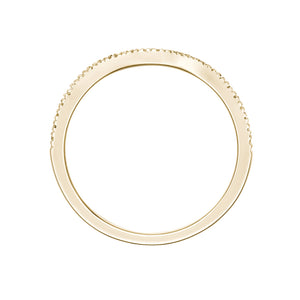 Halo Curved Band in Yellow Gold
