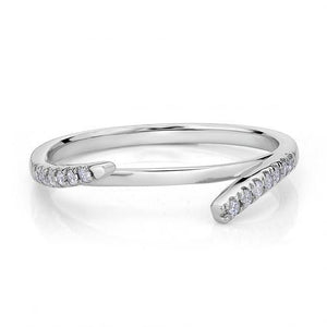 Round Brilliant Split Halo Band in White Gold