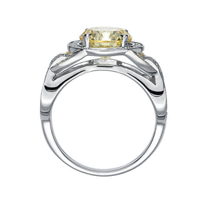 Synergy Intertwined Cocktail Ring in Sterling Silver w/ Yellow Gold
